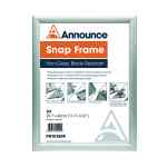 Image for Announce A3 Snap Frame (25mm anodised aluminium frame, Wall fixings included) PHT01809