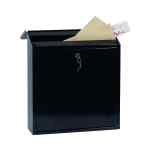 Image for Phoenix Casa Top Loading Mail Box Black (Weatherproof, corrosion and rust resistant) MB0111KB