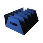 Image for Rotadex 5-Section Lever Arch Filing Rack Blue LAR5Blue