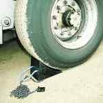 Image for Wheel Chock Moulded Rubber Black 330114