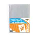 Image for A4 Punched Pockets 30 Micron (Pack of 200) 301598