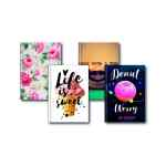 Image for A5 Fashion Assorted Feint Ruled Casebound Notebooks (Pack of 5) 301651