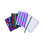 Image for A6 Fashion Assorted Feint Ruled Casebound Notebooks (Pack of 10) 301642