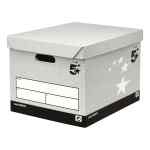 Image for 5 Star Facilities Storage Box Self-Assembly Grey FSC [Pack 10]