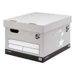 Image for 5 Star Facilities FSC Storage Box With Lid Self-Assembly Extra Large Grey [Pack 10]