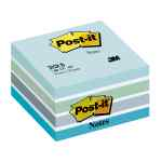 Image for Post-it Note Cube 450 Sheets 76x76mm Pastel Blue/Neon Blue Shades Ref 2028-B