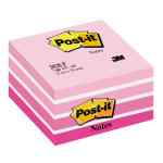 Image for Post-it Note Cube 450 Sheets 76x76mm Pastel Pink/Neon Pink Shades Ref 2028-P