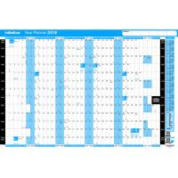 Initiative 2019 13 Month Year Planner Unmounted 916mm x 610mm