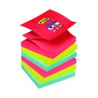 Post-it Super Sticky Z-Notes Pad 90 Sheets BoraBora 76x76mm Ref R330-6SS-JP Pack 6