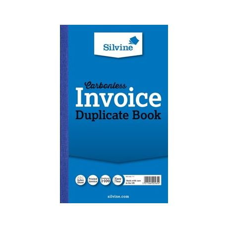 Silvine Carbonless Invoice Book X Stakelum Office Supplies - Online invoice book