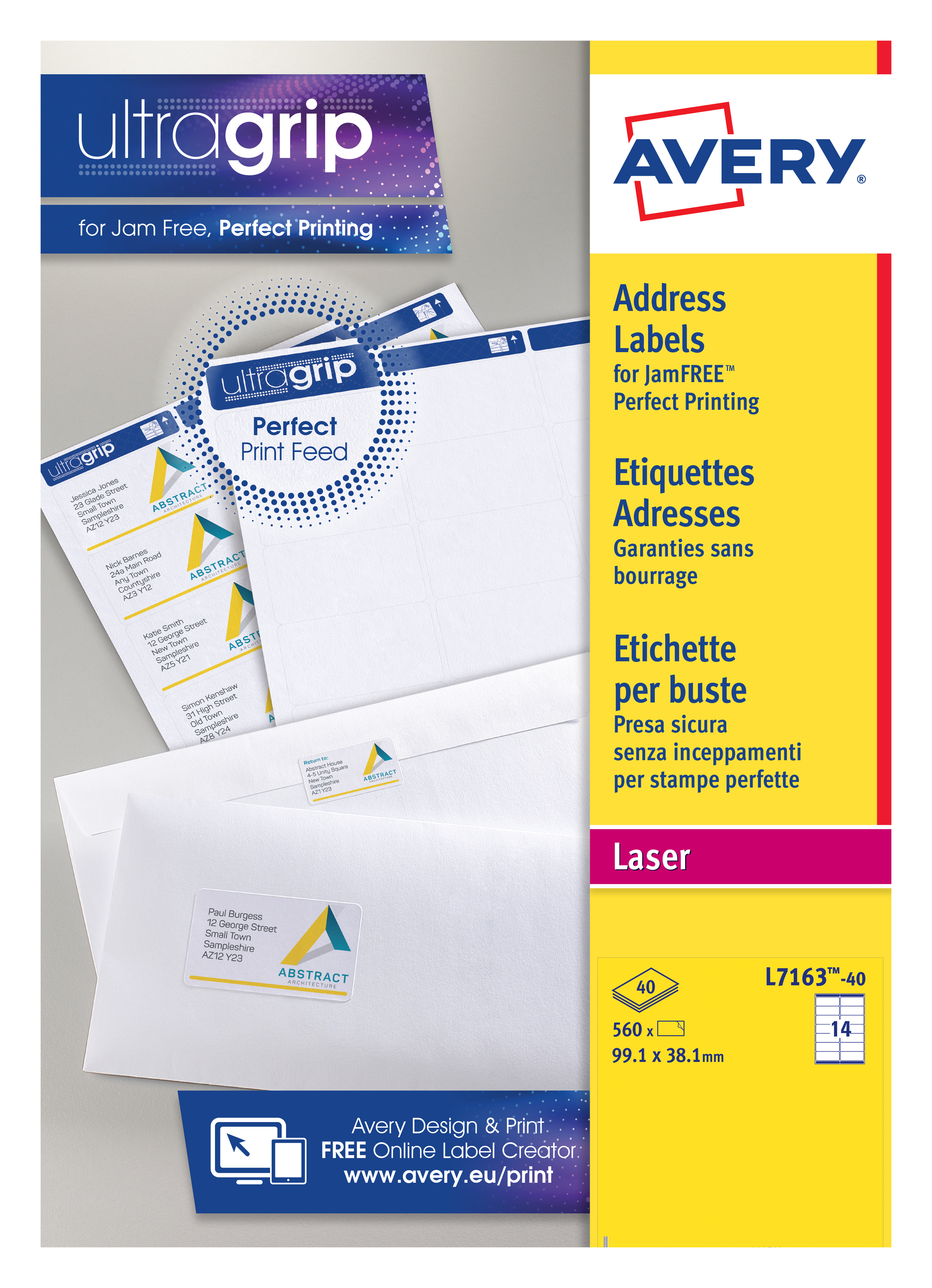 avery laser address labels quickpeel 99 1x38 1mm 14 per