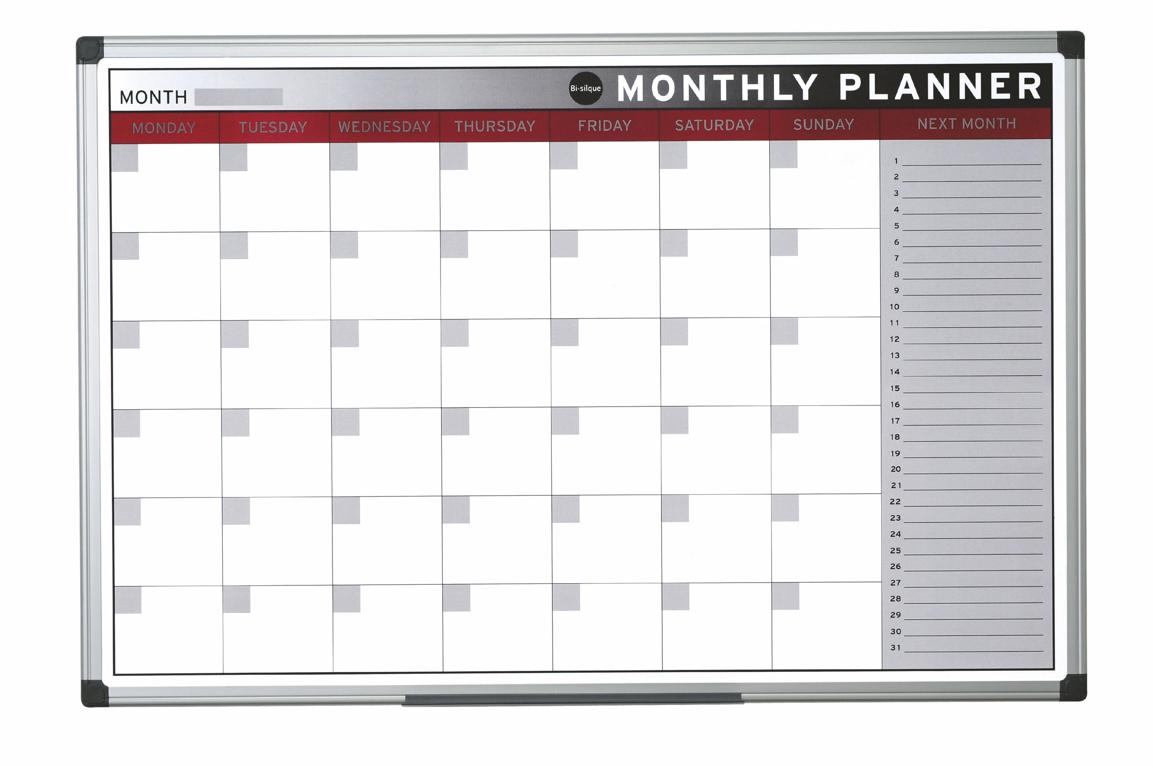office planner. Bi-Office Magnetic Month Planner 900x600mm GA0336170 Office O