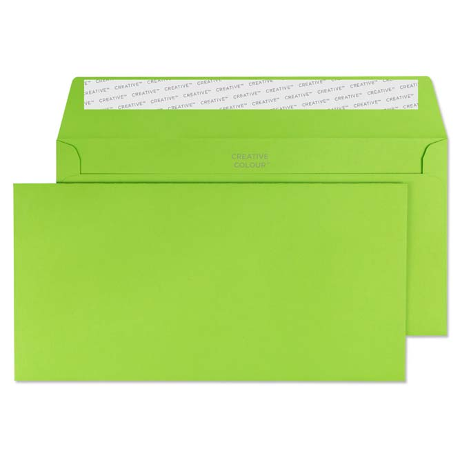 Exceptionnel Creative Colour Lime Green Peel And Seal Wallet DL+ 114x229mm Ref 207 [Pack  500] *10 Day Leadtime*