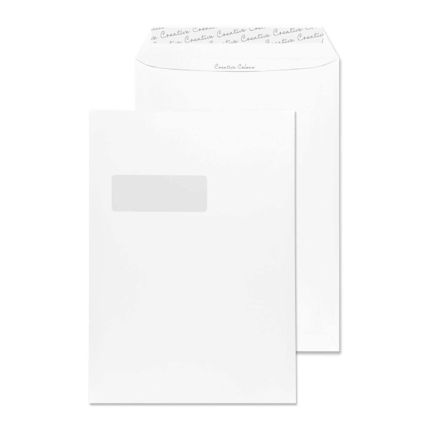 Blake Creative Colour Milk White Window L Seal Pocket 324x229mm 120gm2 Pack 250 Code 951w 3p