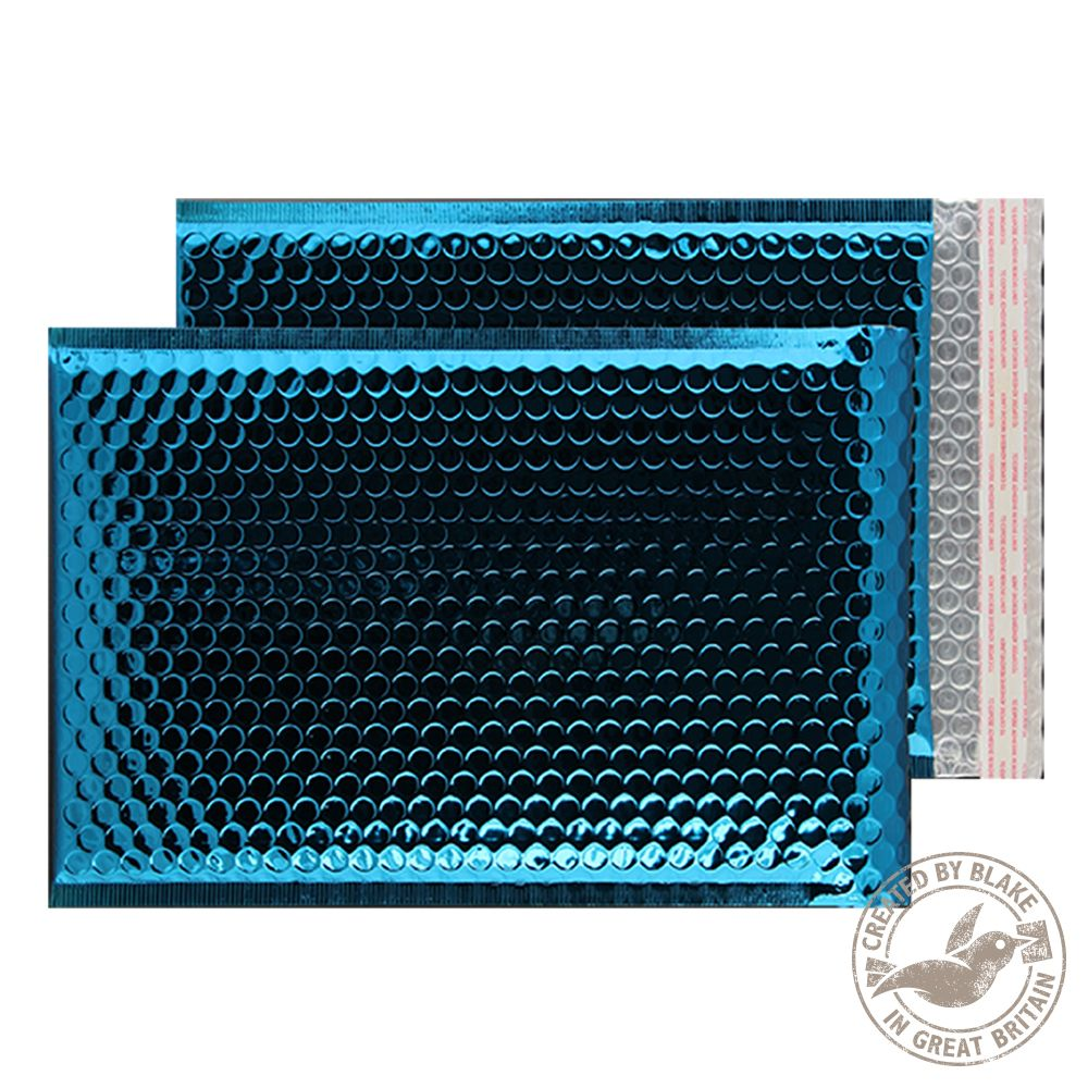 Purely Packaging Bubble Envelope Pu0026S C3 Peacock Blue Ref MBBLU450 [Pack 50]  *3to5 Day Leadtime*