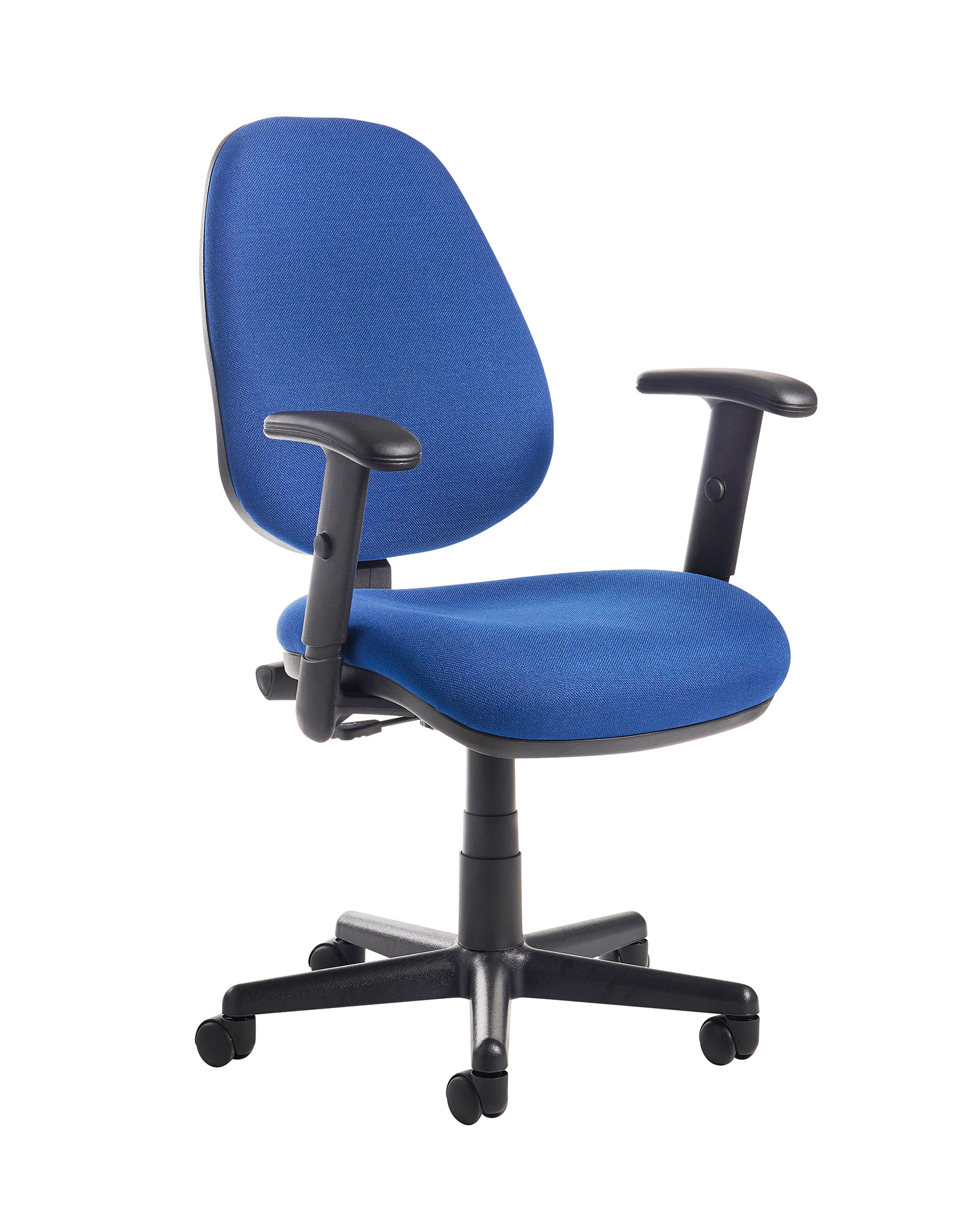 Desk Bilbao Fabric Operators Chair With Adjule Arms Blue