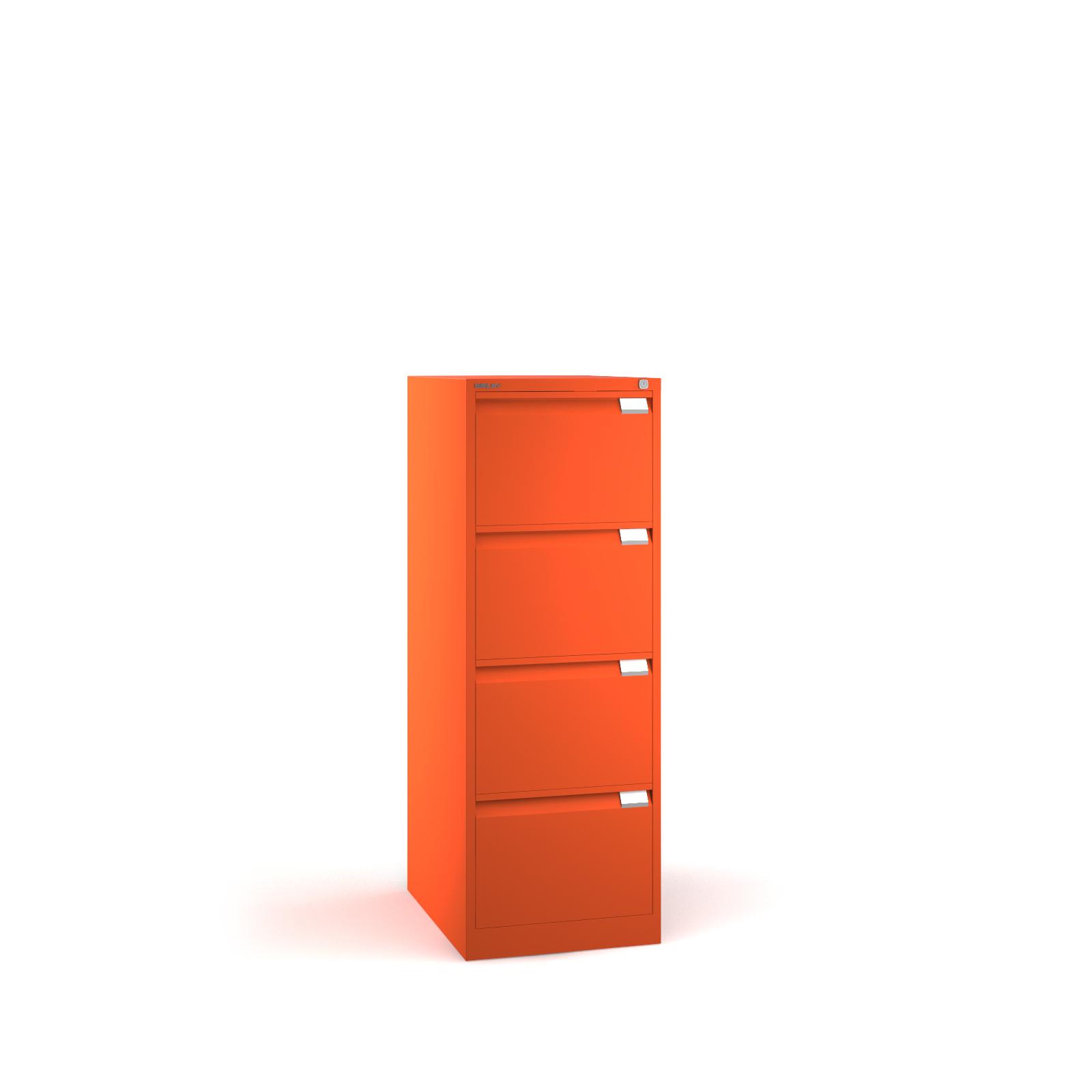 Bisley 4 Drawer Bs Filing Cabinet 1321mm Orange