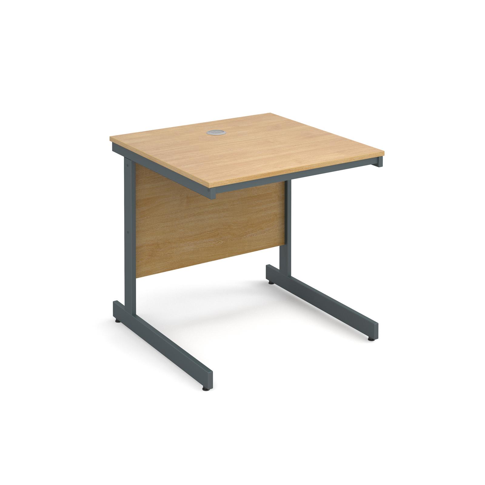 Maestro Cantilever Leg Straight Desk 754mm Oak