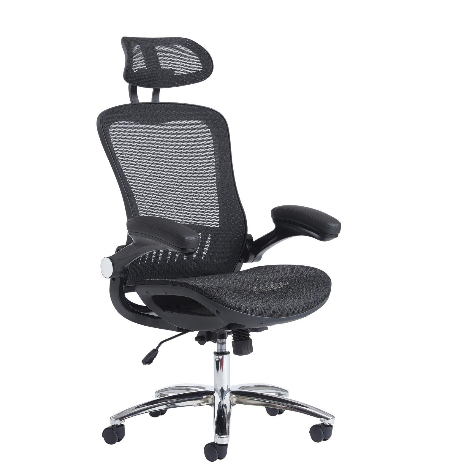 curva high back mesh chair black. Black Bedroom Furniture Sets. Home Design Ideas