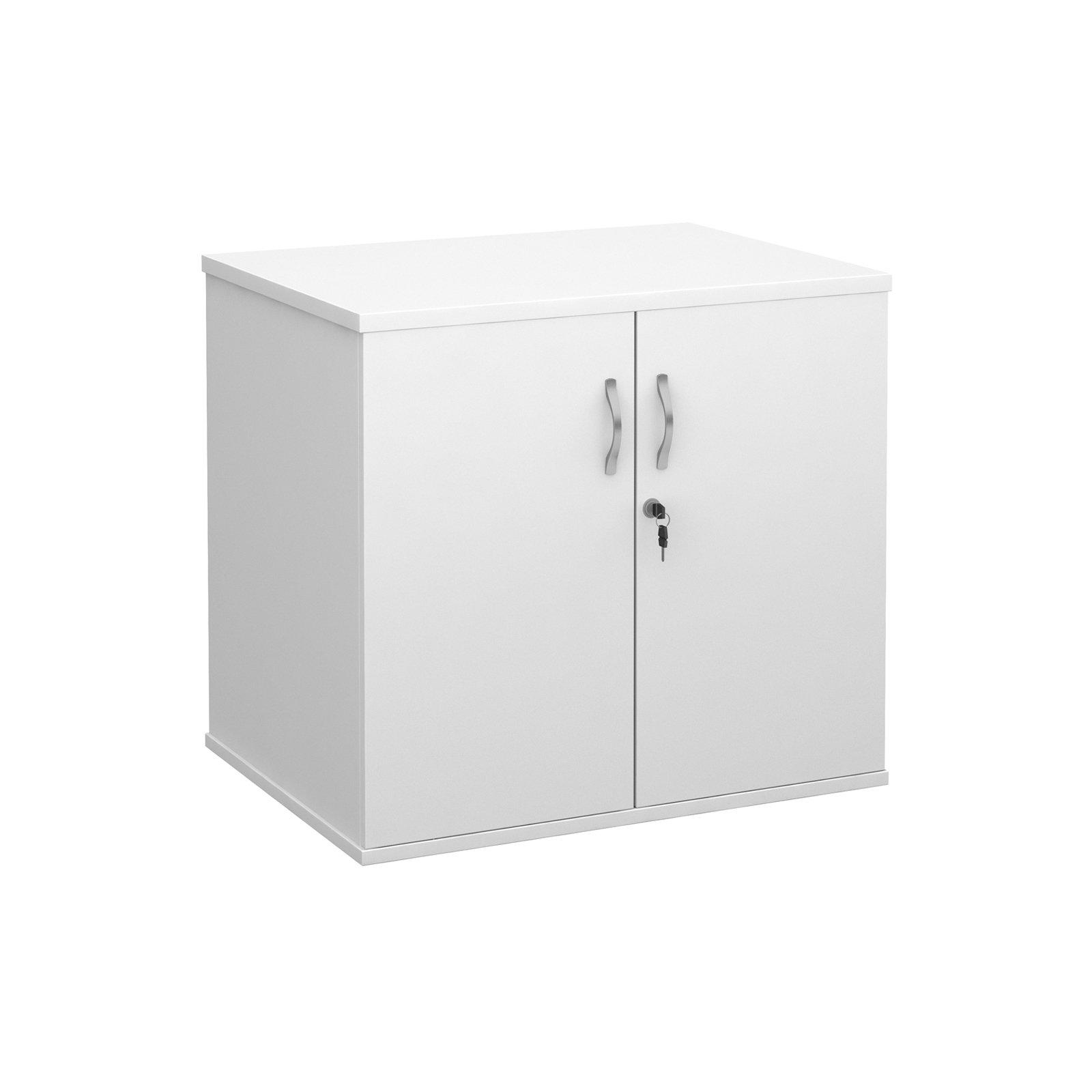 white double door. Deluxe Double Door Desk High Cupboard 600mm Deep - White