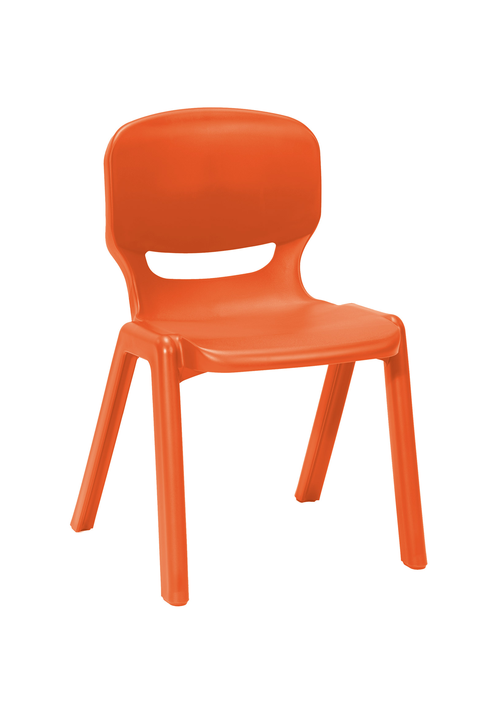 Ergos Versatile One Piece Educational Chair For Age 14 16 Box Of 4 Orange