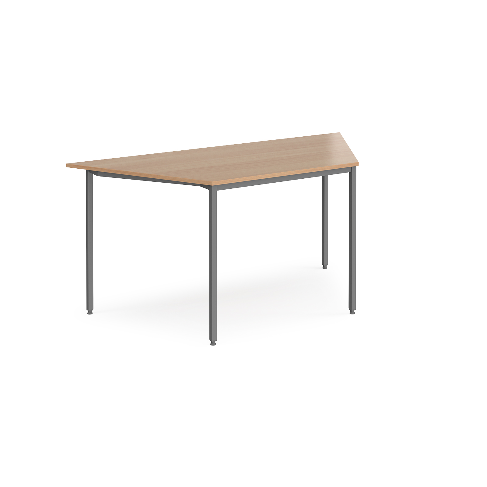 Trapezoidal flexi table with graphite frame 1600mm x 800mm for Trapazoid table
