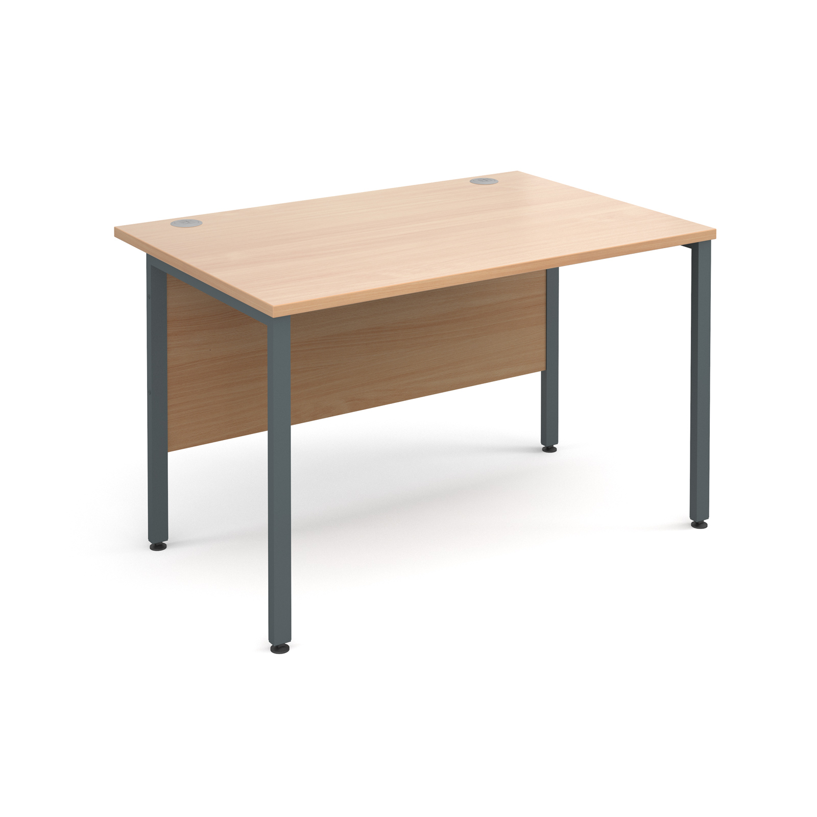 Maestro 25 Gl Straight Desk 1200mm X 800mm Graphite H Frame Beech Top