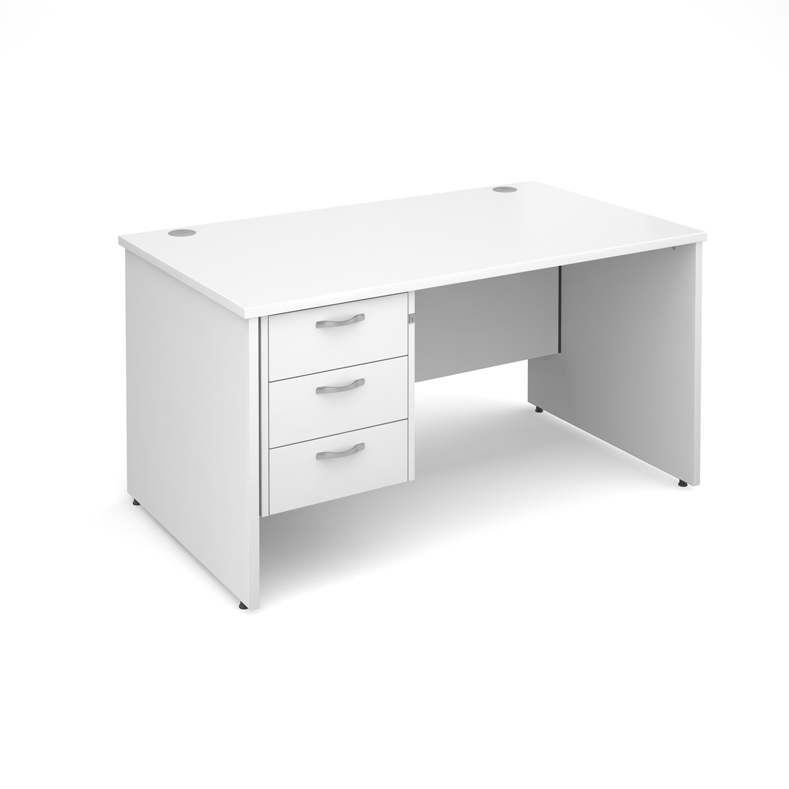 Desk With 3 Drawer Pedestal 1400mm