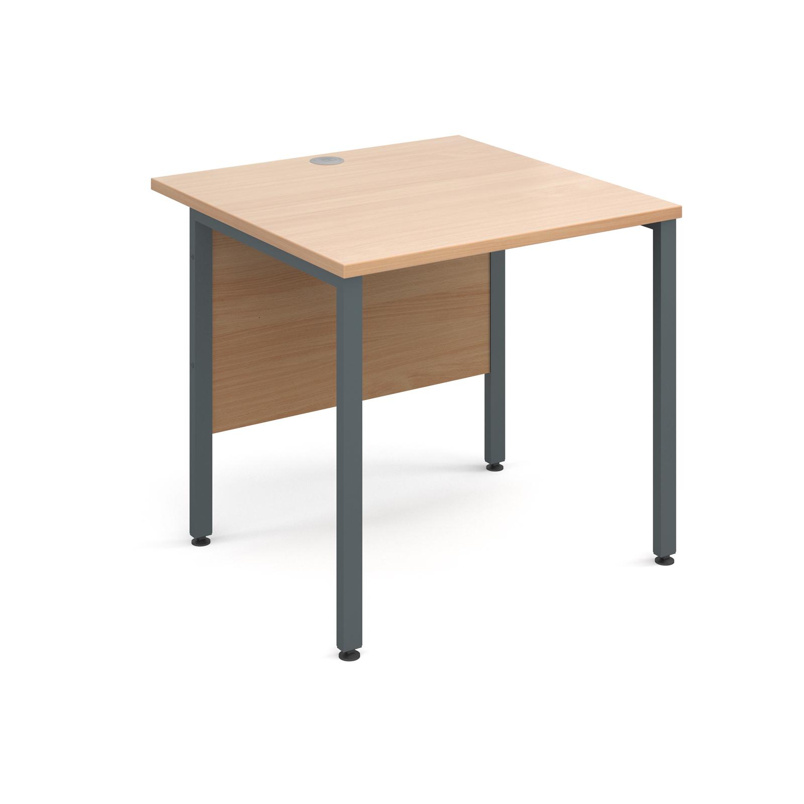 Maestro 25 Gl Straight Desk 800mm X Graphite H Frame Beech Top