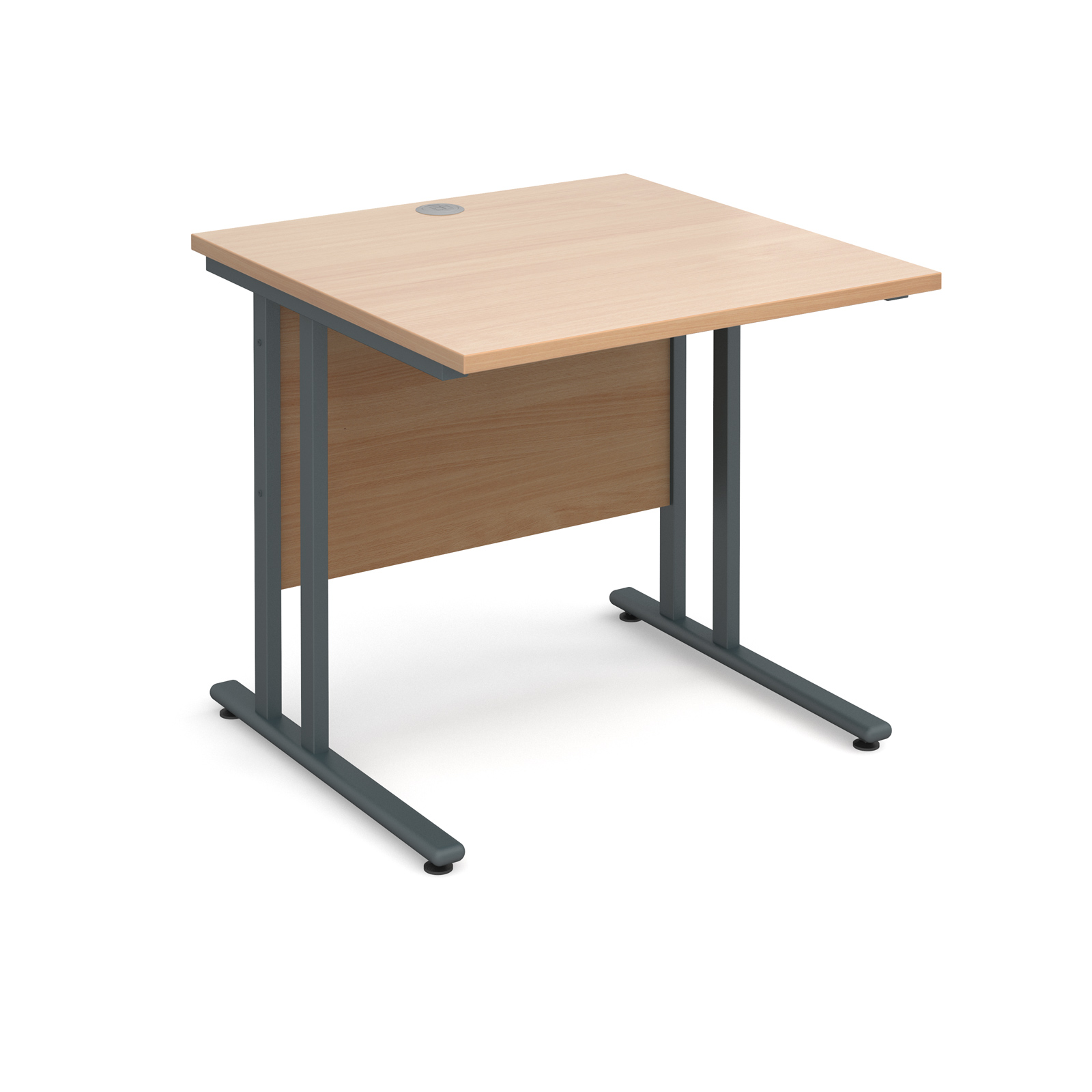 Maestro 25 Gl Straight Desk 800mm X Graphite Cantilever Frame Beech Top