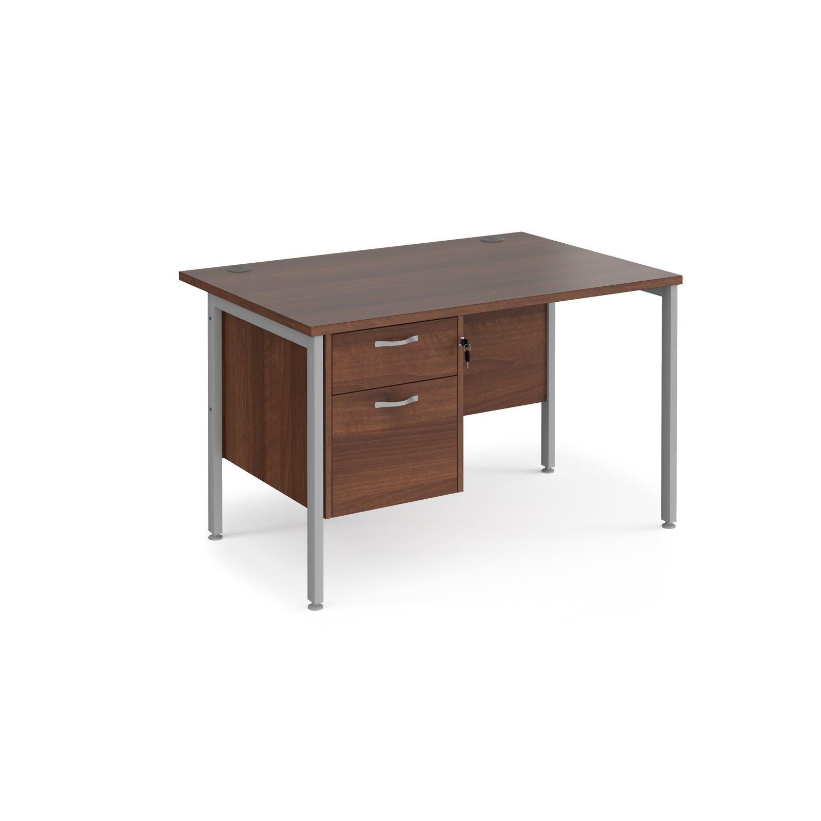 Maestro 25 SL Straight Desk With 2 Drawer Pedestal 1200mm