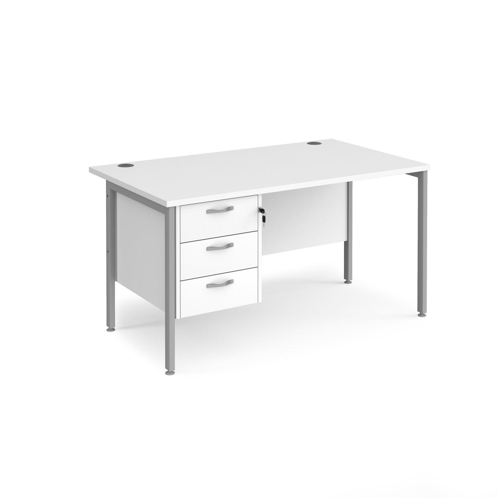 Maestro 25 SL Straight Desk With 3 Drawer Pedestal 1400mm