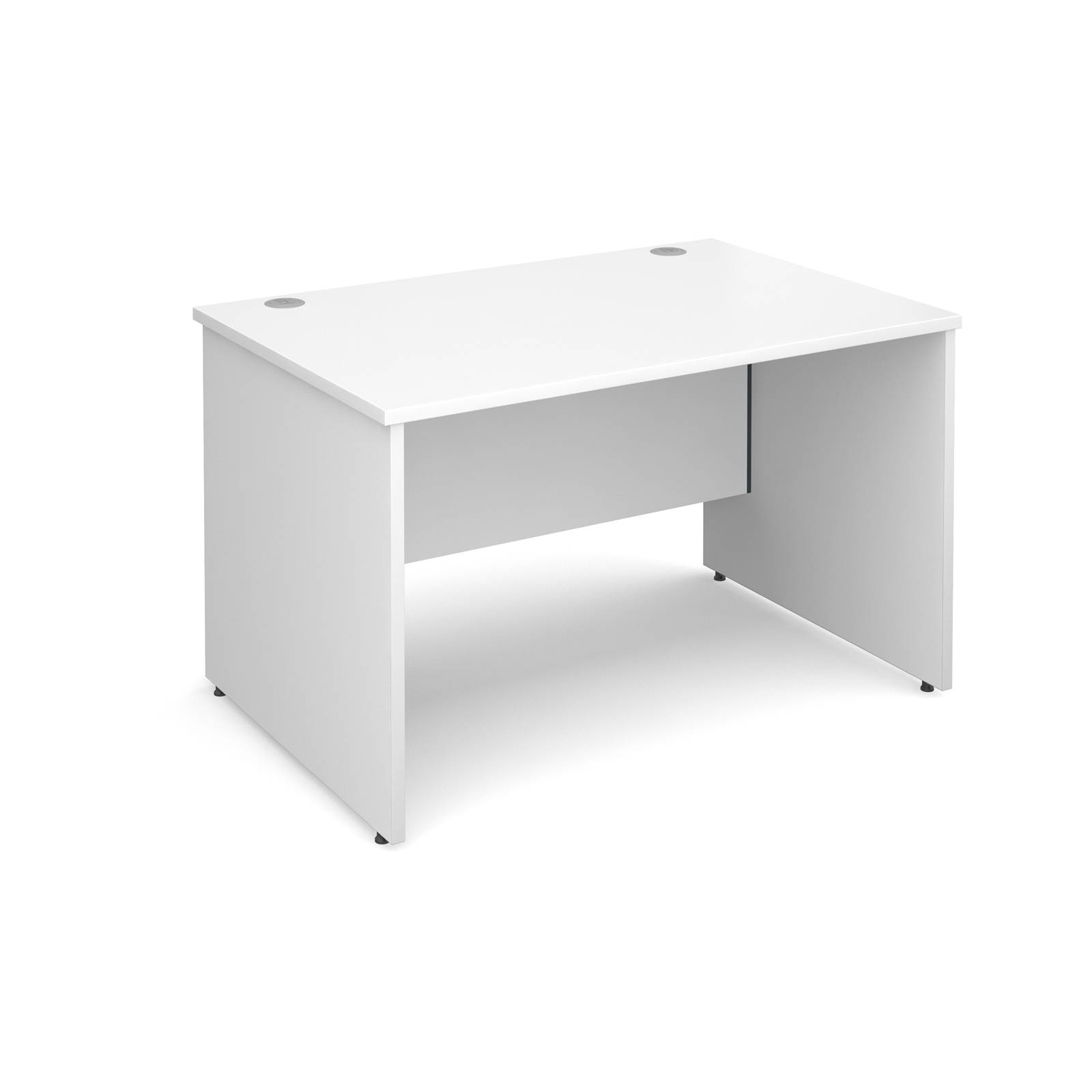 Maestro 25 Pl Straight Desk 1200mm X 800mm White Panel Leg Design