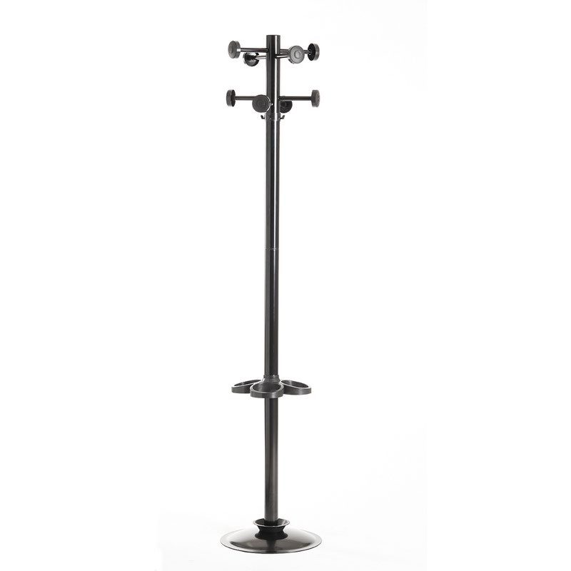 office coat hooks. Coat \u0026 Umbrella Stand With 8 Hooks And 1780mm High - Black Office R