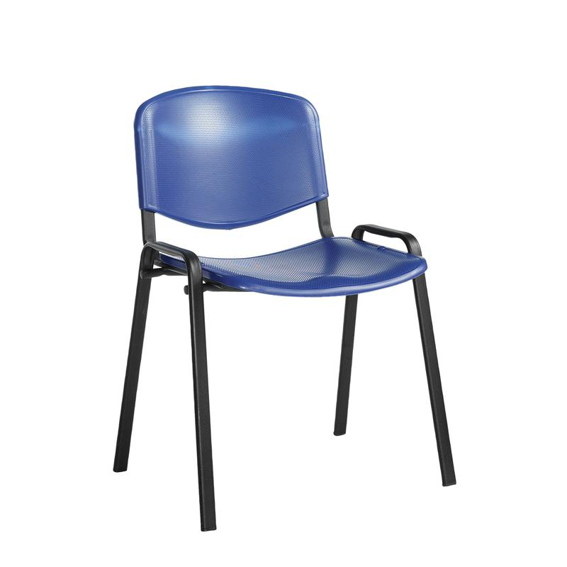 Taurus plastic meeting room stackable chair with no arms