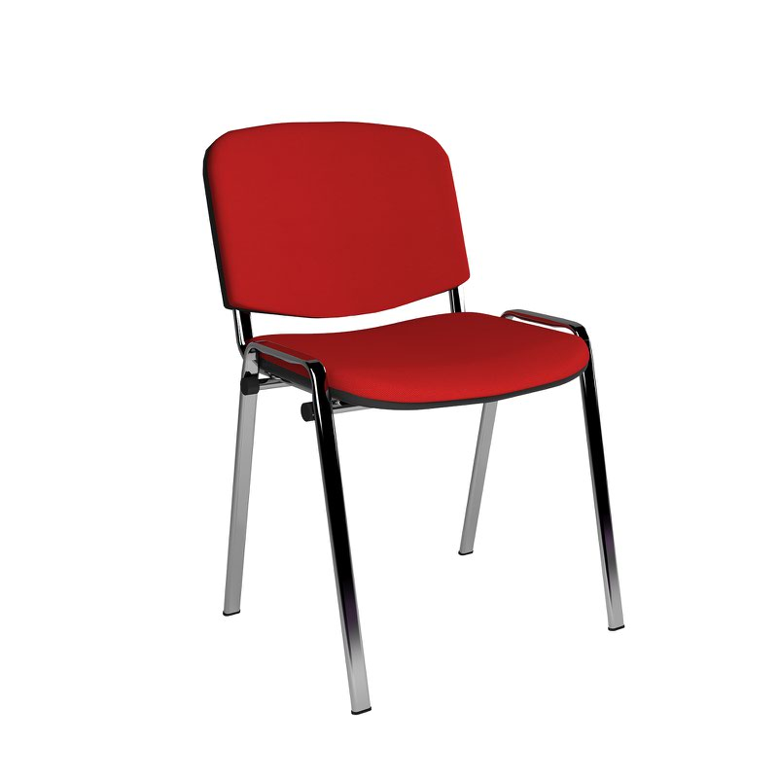 Tobago Stacking Chair Brown Chrome: Taurus Stackable Chair Chrome Four Leg Frame Fabric No