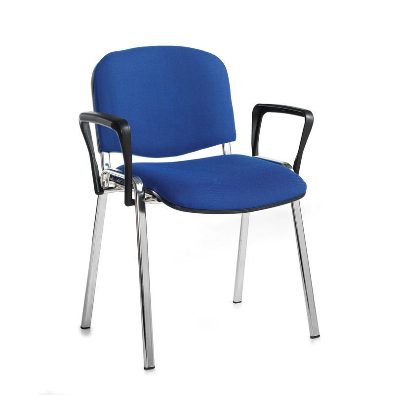 Taurus meeting room stackable chair with chrome frame and for Stackable furniture