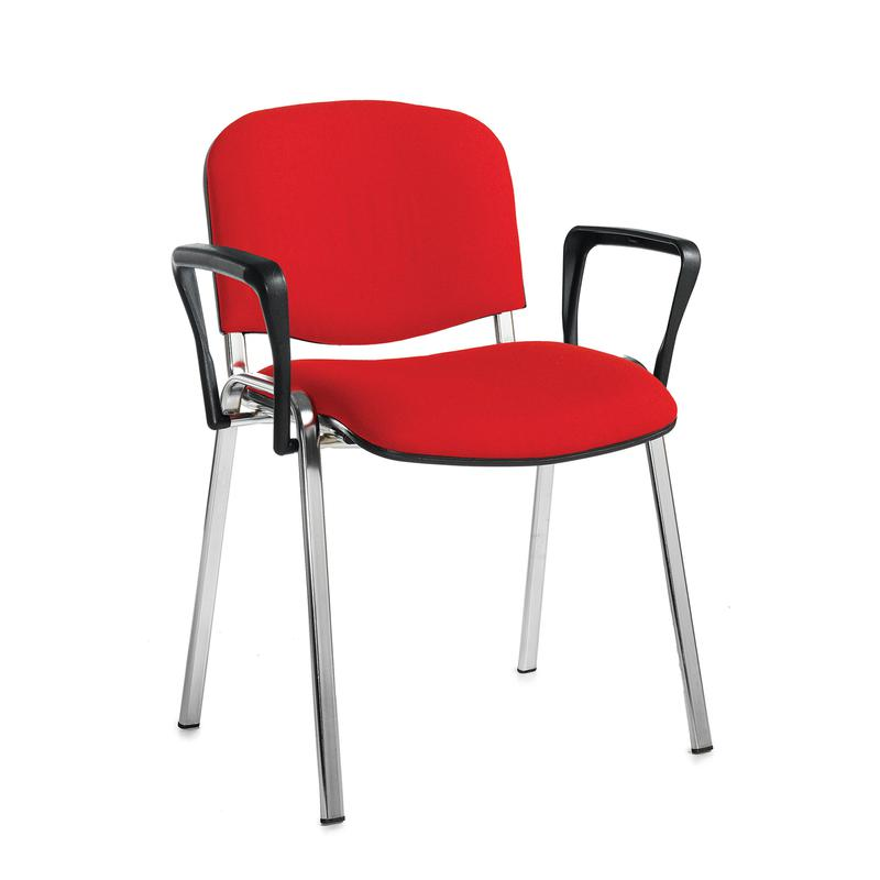 Stackable Chairs With Arms ~ Taurus meeting room stackable chair with chrome frame and
