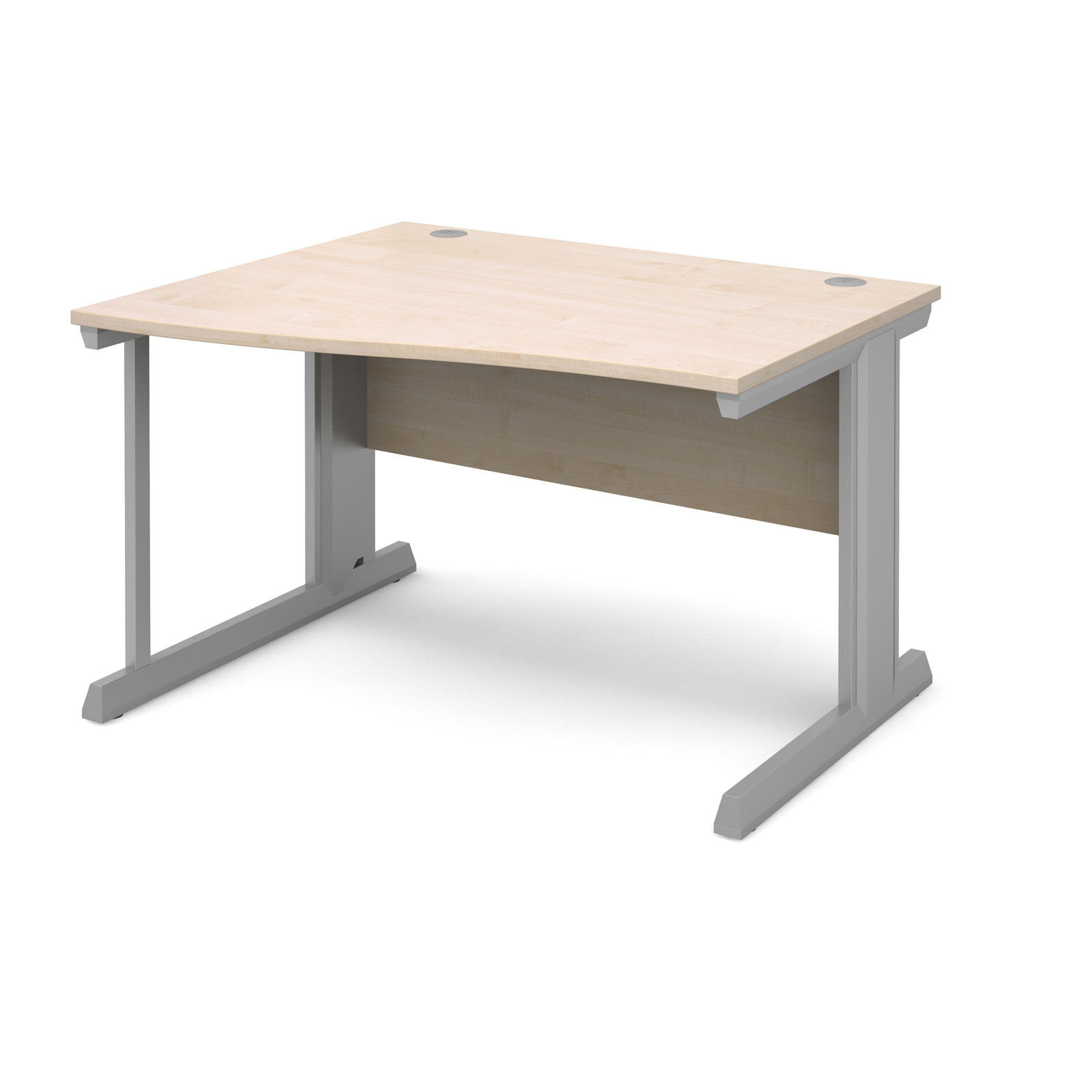 Compare prices for Vivo Left Hand Wave Desk 1200mm - Silver Frame Maple Top