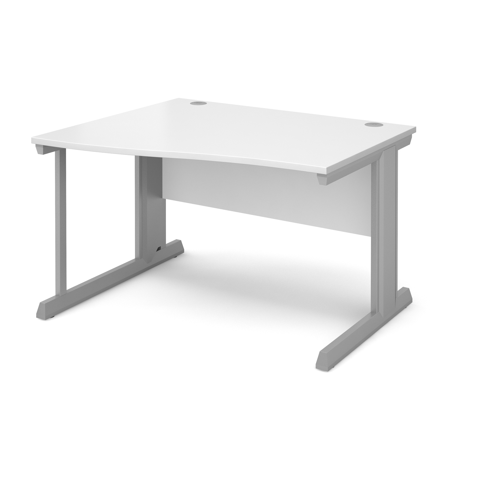 Compare prices for Vivo Left Hand Wave Desk 1200mm - Silver Frame White Top
