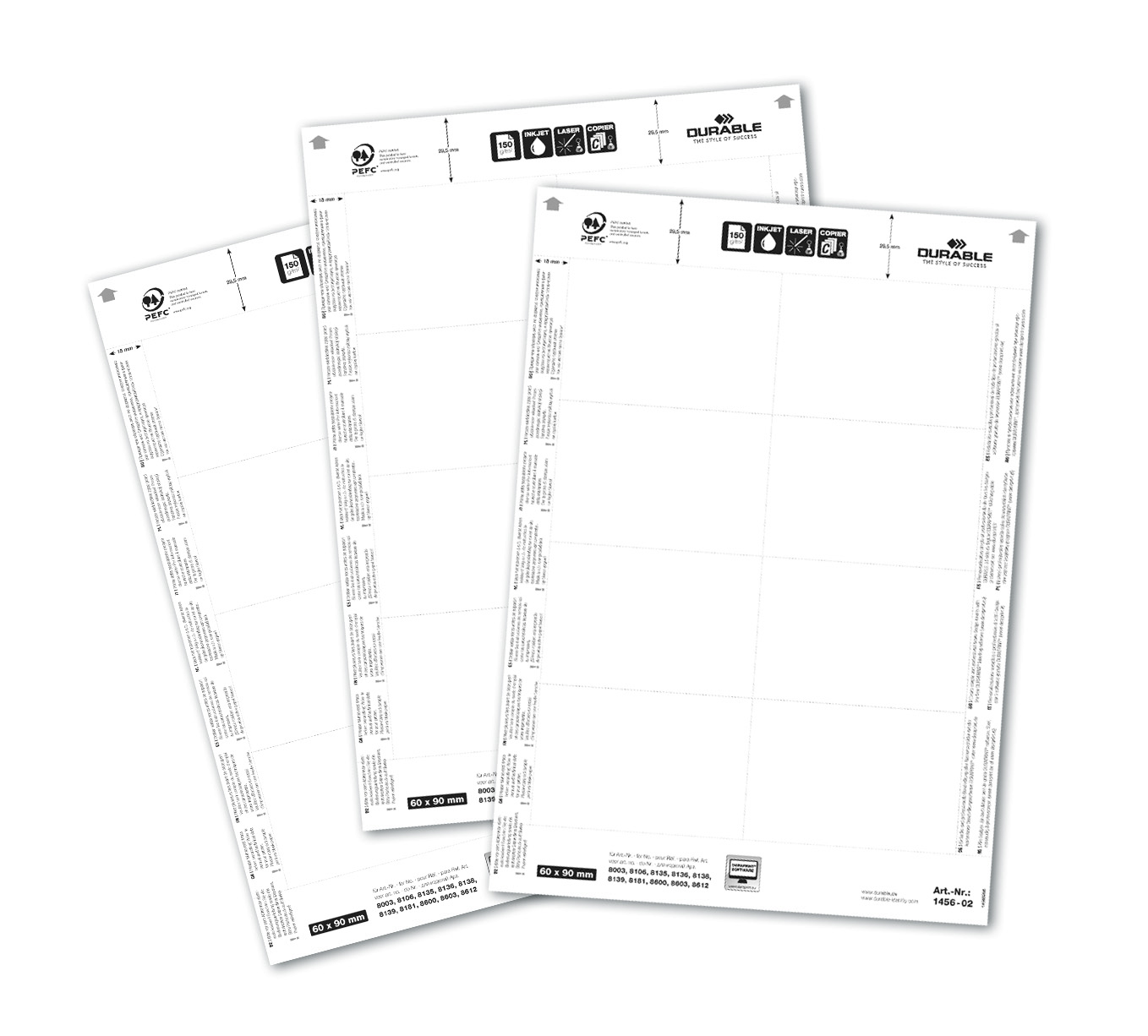 Compare prices for Durable Badgemaker 160 Inserts 60x90mm 145602 Pack of 160