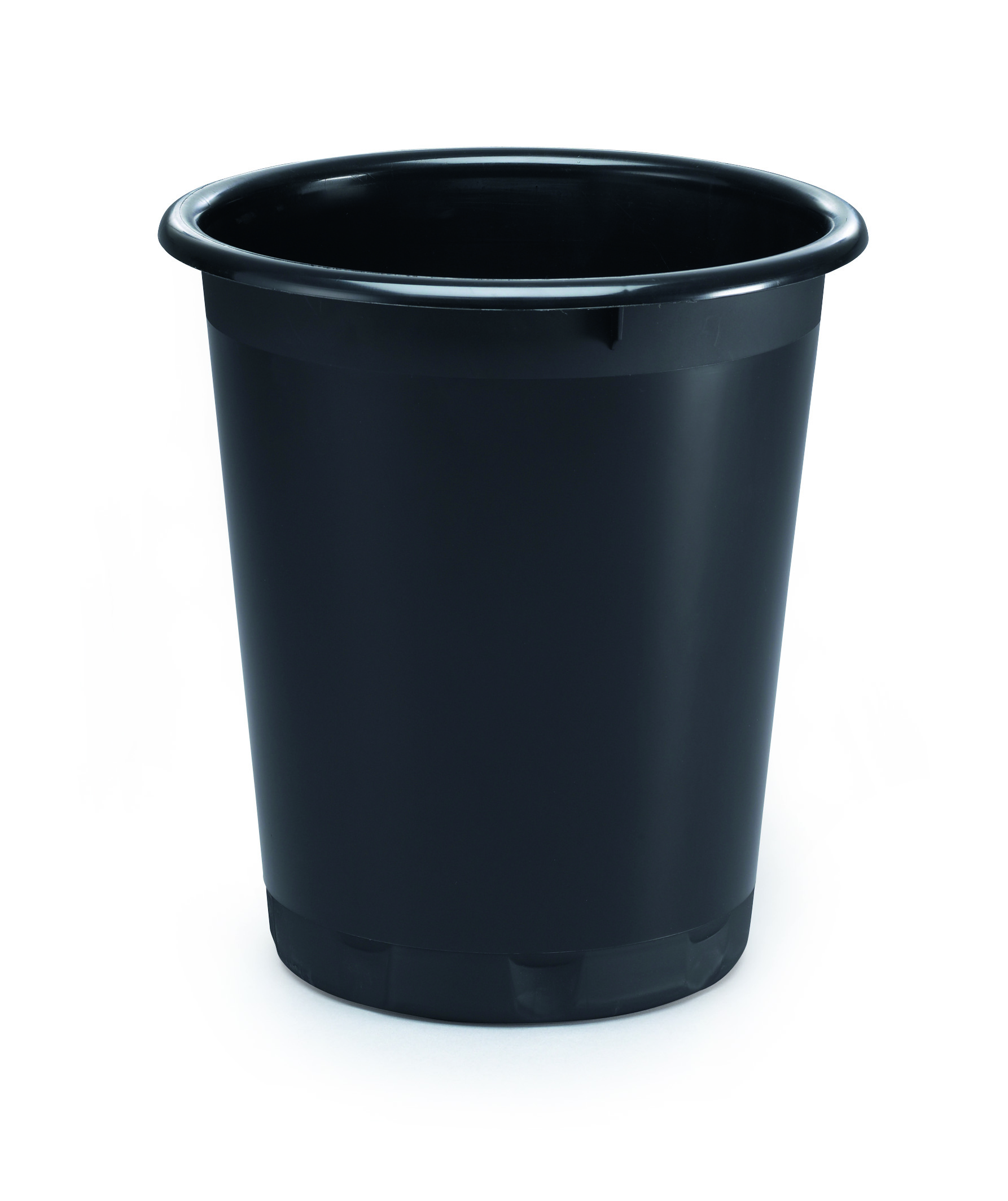 Durable Basic Waste Basket Black