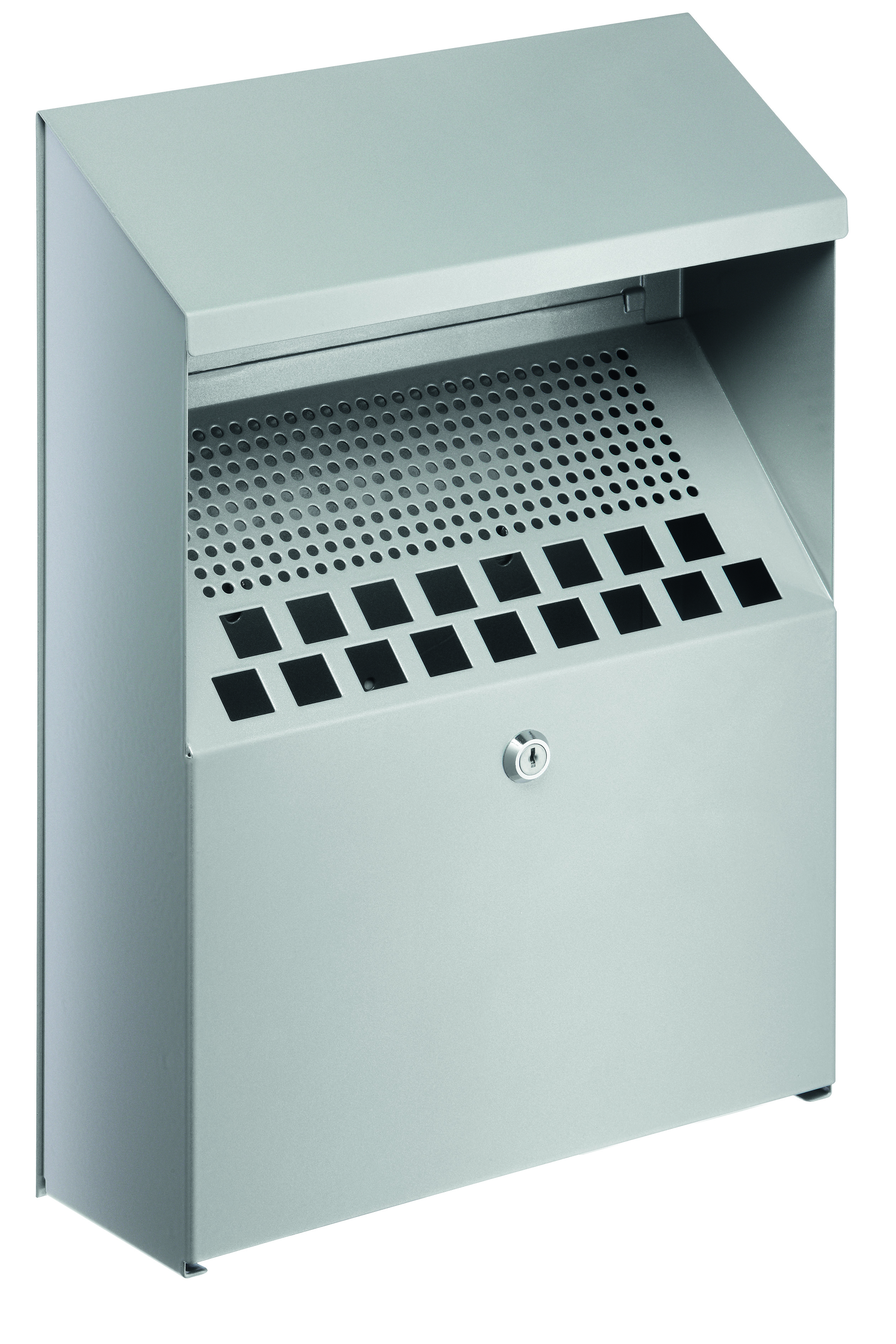 Durable Ash Bin Wall Mounted Capacity Of 4 Litres 310x107x450mm Silver Ref 3334 23