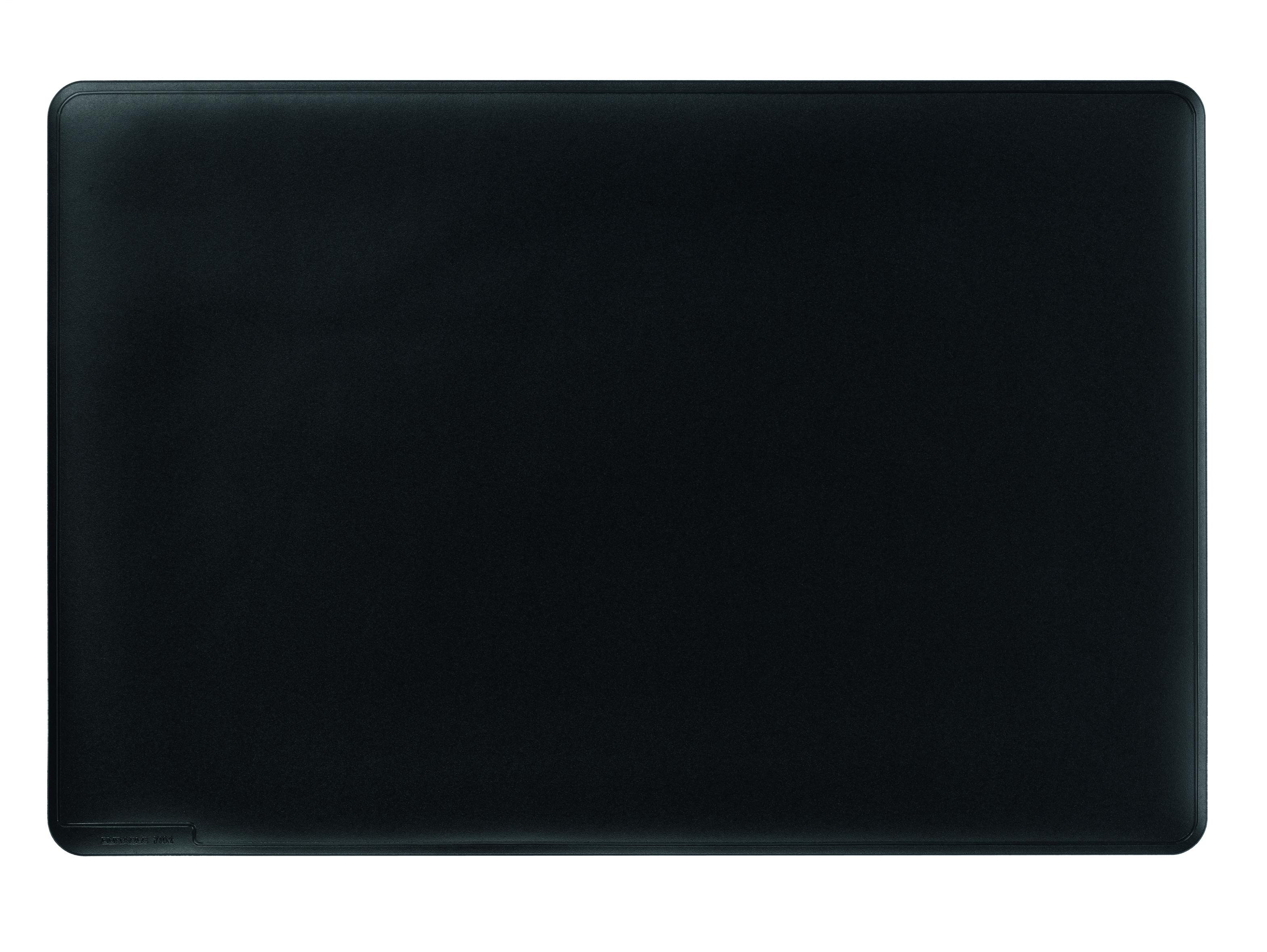 Durable Black Desk Mat With Contoured Edges 400x530mm 7102 01