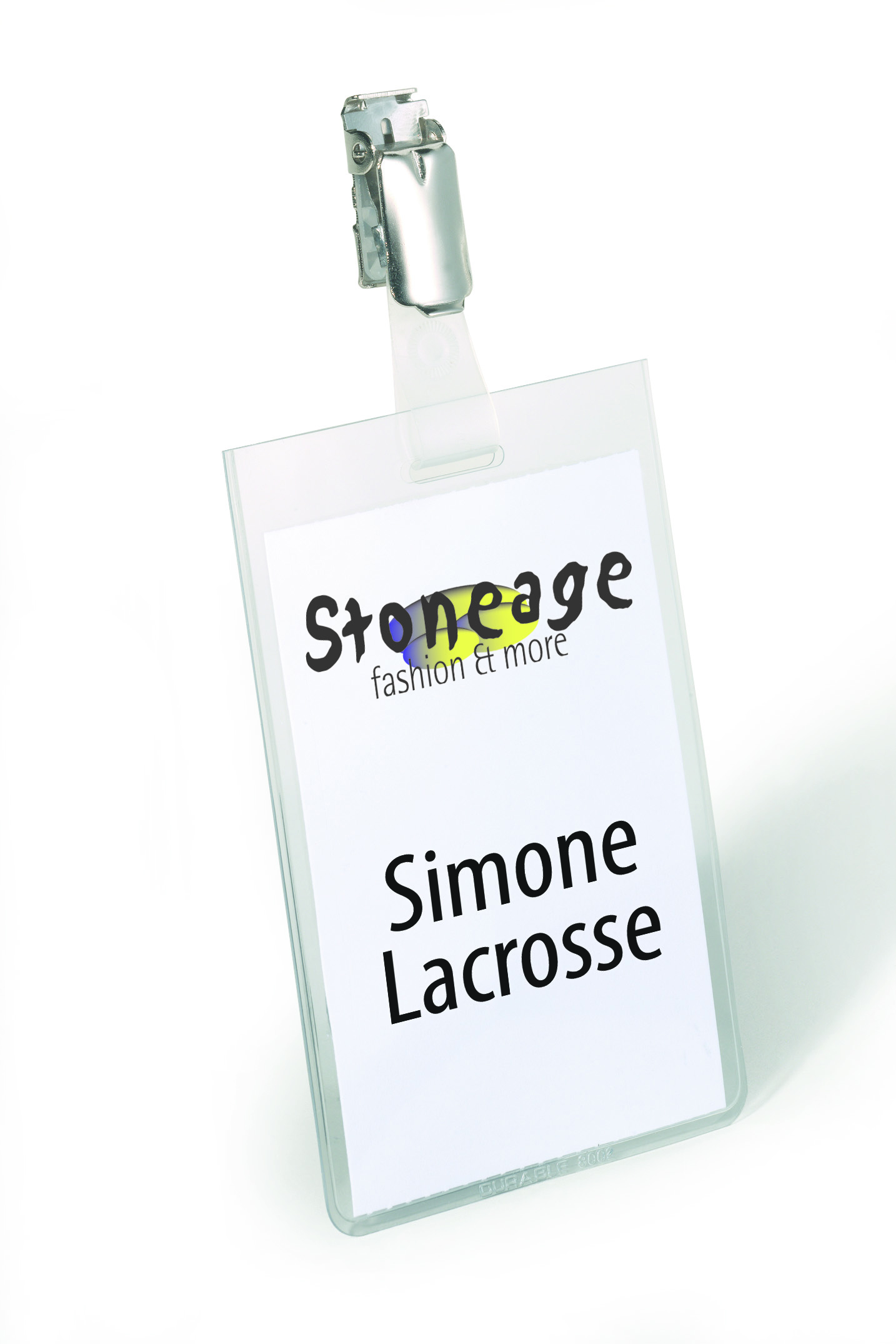 Durable Name Badges Security with Rotating Clip 90x60mm Ref
