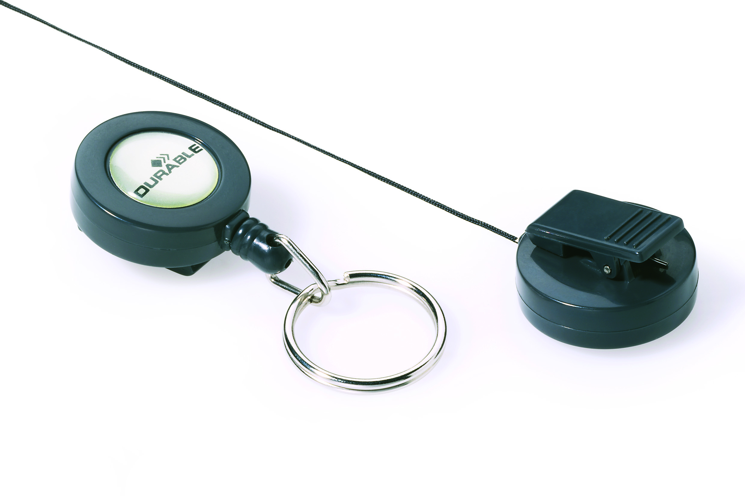 Compare prices for Durable Badge Reel Keyring Charcoal Pack of 10 822258