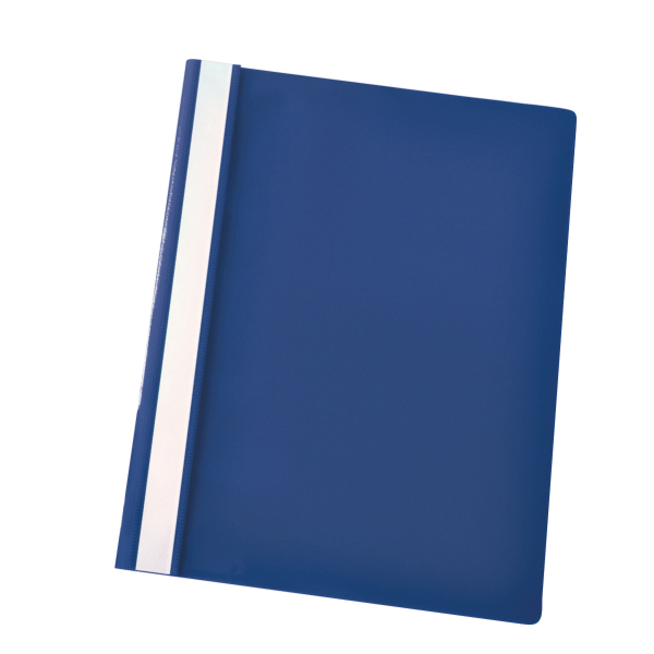 esselte vivida report flat bar file polypropylene clear front a4