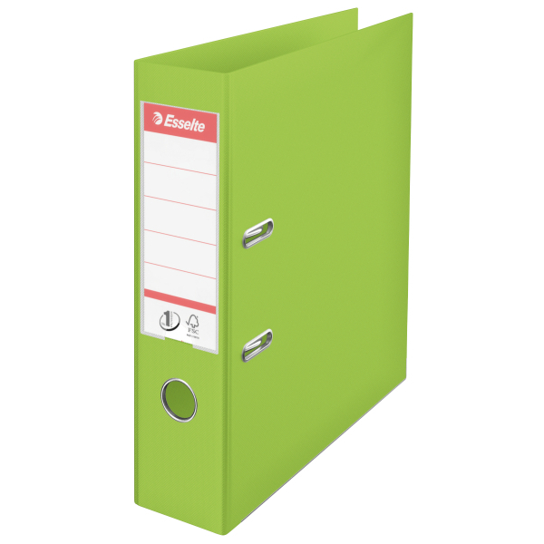 Esselte A4 Polypropylene 75mm Lime Green Lever Arch File Pack Of 10 624069