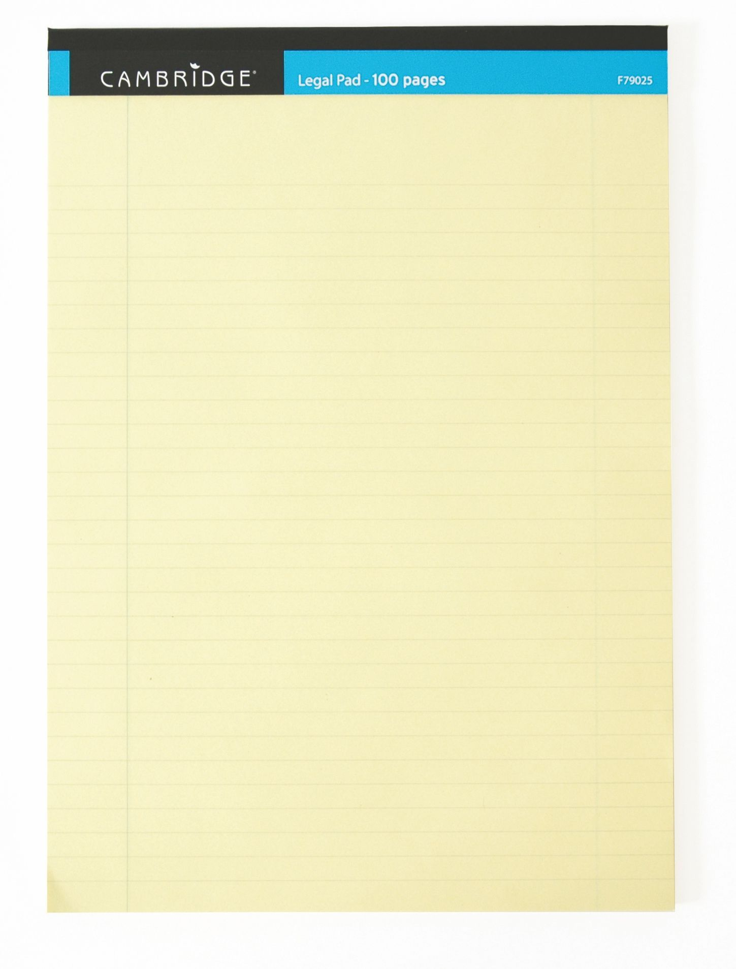 Cambridge Everyday A4 Yellow Legal Pad 100 Pages Ruled Margin Pack Of 10 100080179