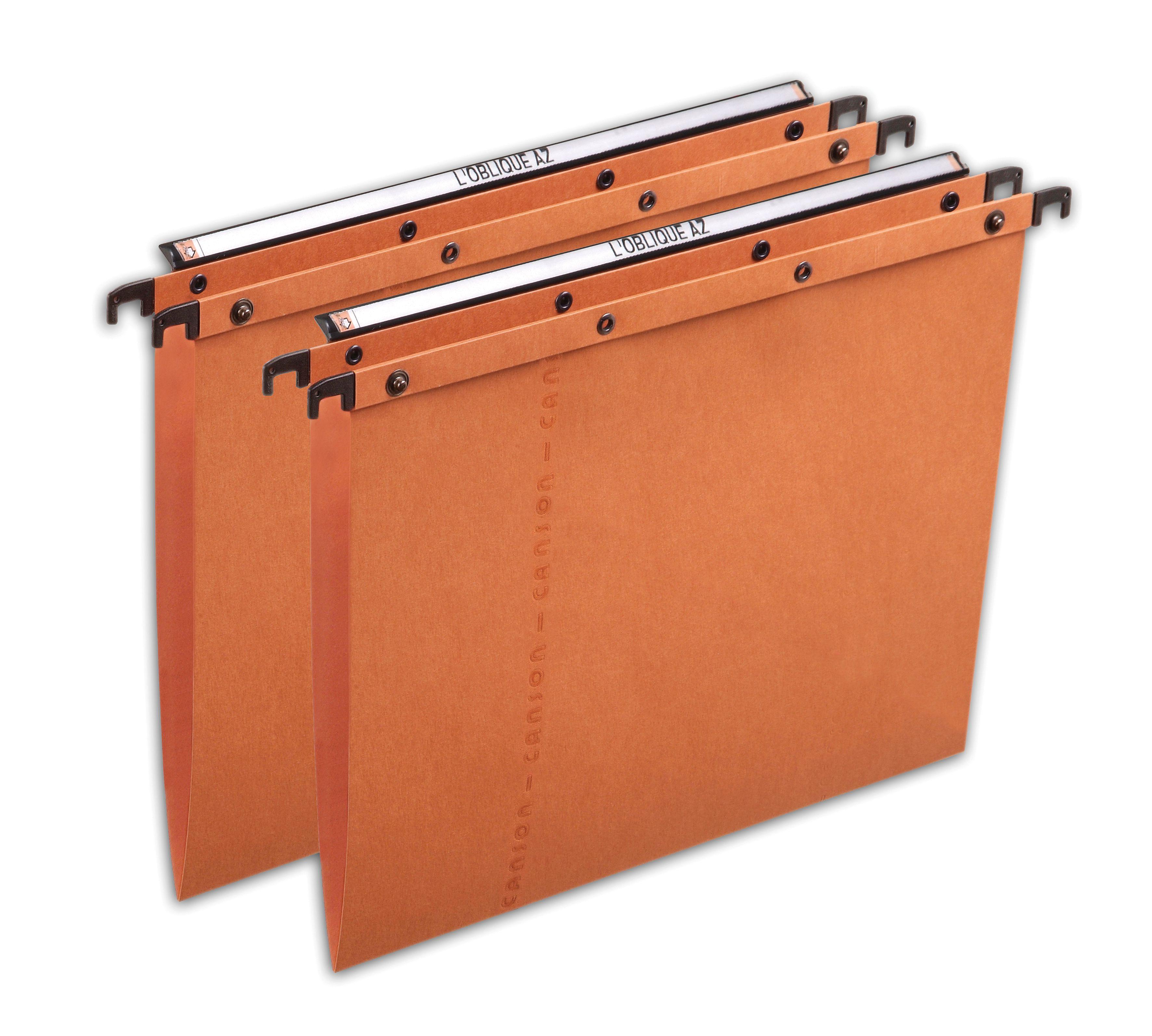 L 39 oblique suspension file vbase orange a4 pack 25 for Suspension fille